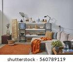 luxury office room detail... | Shutterstock . vector #560789119