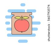 apple jam color thin line icon. ... | Shutterstock .eps vector #560793574