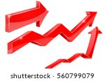 arrows. red of financial... | Shutterstock . vector #560799079