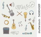 music illustration vector set | Shutterstock .eps vector #560804389