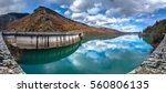 hydroelectric dam at lake... | Shutterstock . vector #560806135