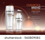 bottles of shampoo and shower... | Shutterstock .eps vector #560809081