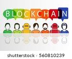 blockchain vector illustration... | Shutterstock .eps vector #560810239