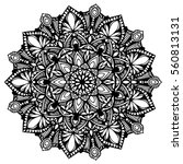 mandalas for coloring book.... | Shutterstock .eps vector #560813131