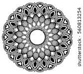 mandalas for coloring book.... | Shutterstock .eps vector #560813254