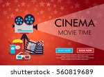 movie cinema premiere poster... | Shutterstock .eps vector #560819689