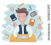 vector funny cartoon...   Shutterstock .eps vector #560831395