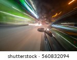 view from side of car moving in ... | Shutterstock . vector #560832094