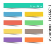 sticky note with flat color .... | Shutterstock .eps vector #560832745