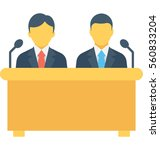 meeting vector icon | Shutterstock .eps vector #560833204