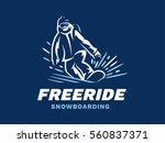 snowboarding freeride powder... | Shutterstock .eps vector #560837371