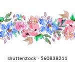 watercolor seamless pattern.... | Shutterstock . vector #560838211