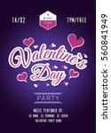 valentines day party poster.... | Shutterstock .eps vector #560841949