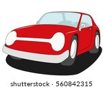 coupe car vector red | Shutterstock .eps vector #560842315