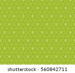 Floral Green Geometric Seamles...