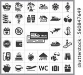set of travel icons. contains... | Shutterstock .eps vector #560847649