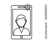 photo selfie with smartphone... | Shutterstock .eps vector #560848501