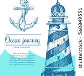 sea design template. nautical... | Shutterstock .eps vector #560849551