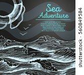 sea design template. nautical...   Shutterstock .eps vector #560849584