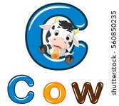 vector illustration of cow... | Shutterstock .eps vector #560850235
