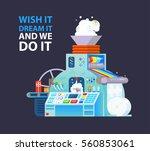 vector creative poster print... | Shutterstock .eps vector #560853061