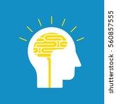 brainstorming  creative mind ... | Shutterstock .eps vector #560857555