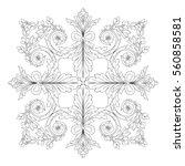 vintage baroque ornament retro...   Shutterstock .eps vector #560858581