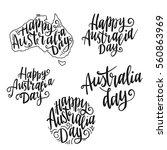 set inscription happy australia ... | Shutterstock .eps vector #560863969