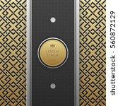 vertical banner template on... | Shutterstock .eps vector #560872129