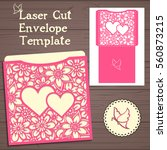 lasercut vector wedding... | Shutterstock .eps vector #560873215
