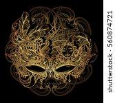 luxury elegant golden carnival... | Shutterstock .eps vector #560874721