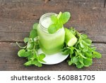 green smoothie vegetable. | Shutterstock . vector #560881705
