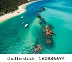 an aerial view of the... | Shutterstock . vector #560886694