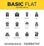 basic set of small box  boxes... | Shutterstock .eps vector #560886769