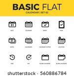 basic set of time form  day... | Shutterstock .eps vector #560886784