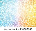 orange blue mosaic pattern   Shutterstock .eps vector #560887249