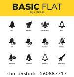 basic set of off bell form ... | Shutterstock .eps vector #560887717