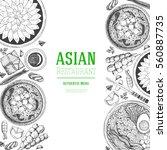 asian food frame. design... | Shutterstock .eps vector #560887735