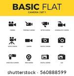 basic set of movie camera ... | Shutterstock .eps vector #560888599
