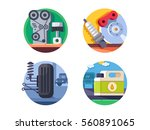 spare parts set icons | Shutterstock .eps vector #560891065
