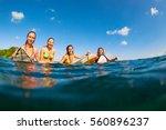 happy girls in bikini have fun  ... | Shutterstock . vector #560896237