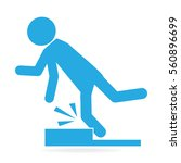 man tripping over on floor ... | Shutterstock .eps vector #560896699