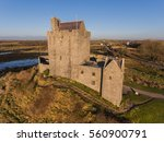 aerial dunguaire castle evening ... | Shutterstock . vector #560900791