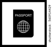 passport icon. | Shutterstock .eps vector #560914429