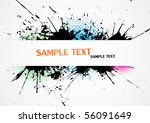 grunge banner. vector. | Shutterstock .eps vector #56091649