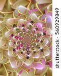 Pastel Colored Fractal Spiral...