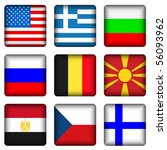 square national flags set on a... | Shutterstock .eps vector #56093962