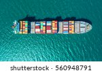 container container ship in... | Shutterstock . vector #560948791