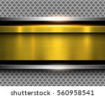 background metallic gold with... | Shutterstock .eps vector #560958541