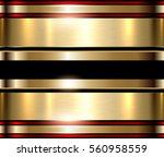 gold metal background  shiny... | Shutterstock .eps vector #560958559